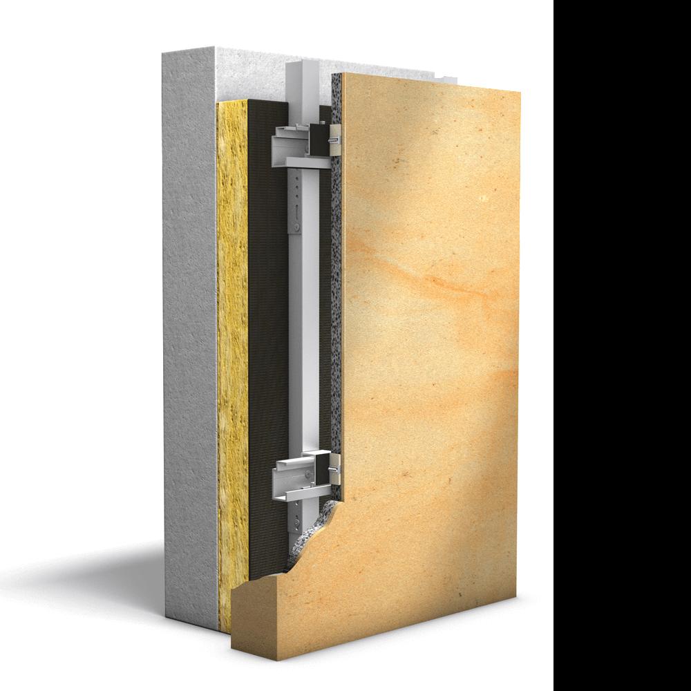 Structura carcasei fatadei ventilate