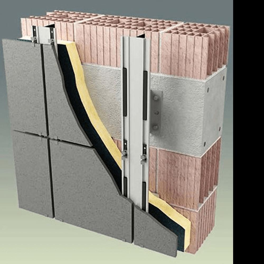 Structura fatada ventilata
