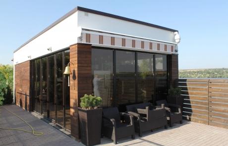 Fatade finisate cu lemn Moldova, fatada ventilata, terasa, lemn natural, termotrat